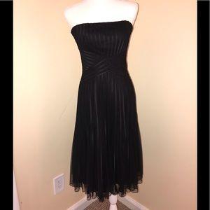 White House Black Market Black midi dress